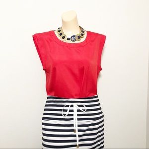 J crew Red Blouse Small